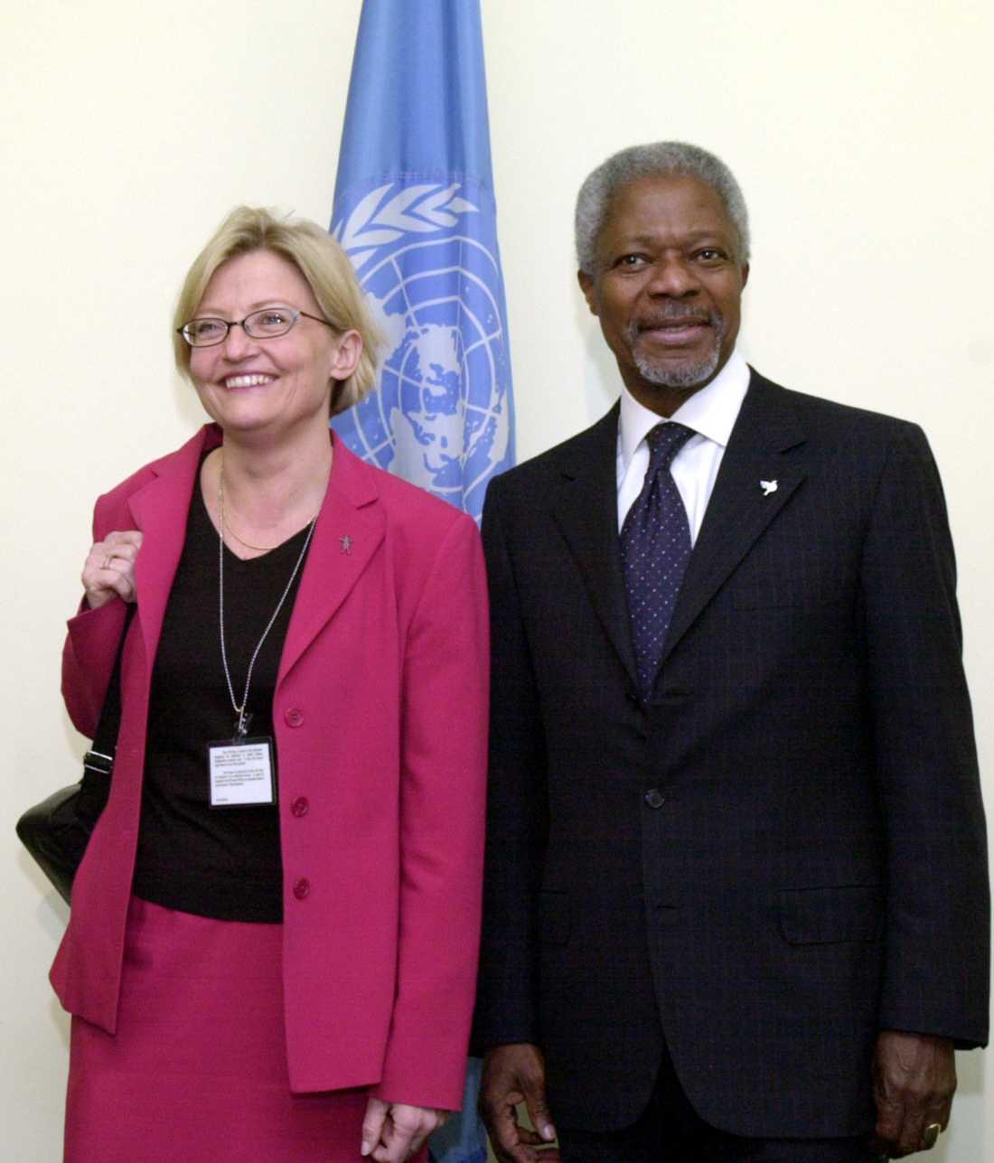 2002: Kofi Annan med Anna Lindh