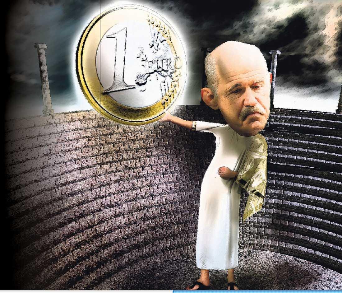 SOM ODYSSEUS Efter tredje akten i Greklands ödesdrama står Giorgos Papandreou kvar som den segrande hjälten.