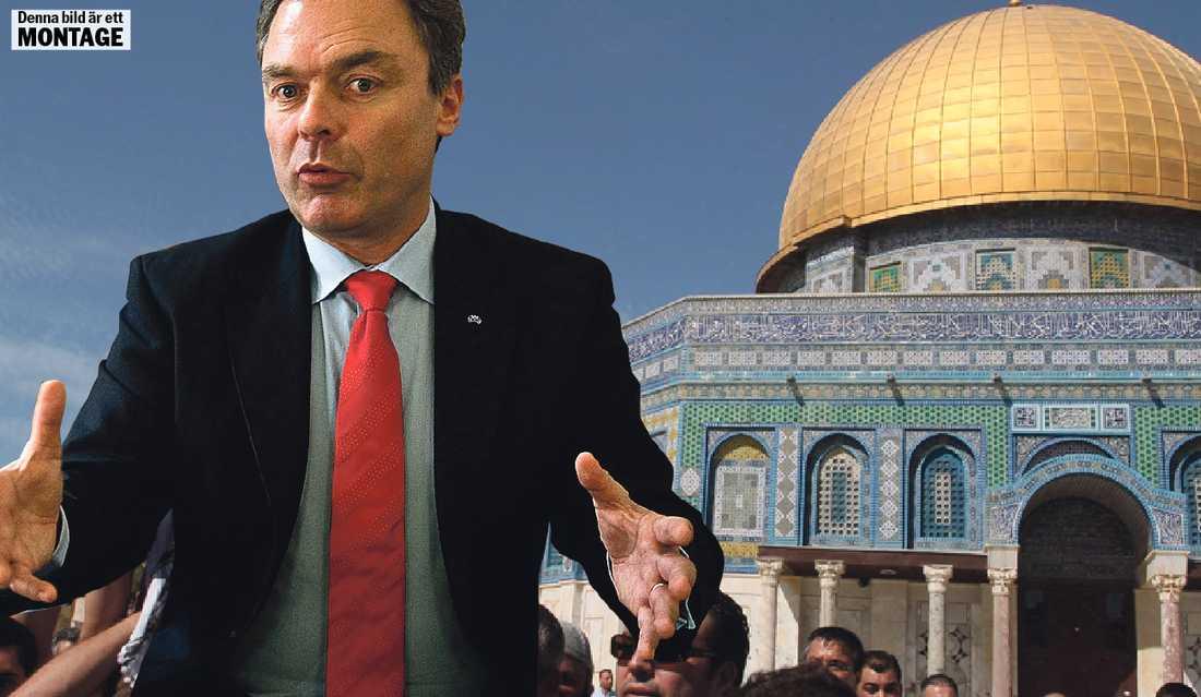På fel plats Jan Björklund missar aldrig ett tillfälle att kritisera palestinierna. Därför är han fel man på fel plats just nu.