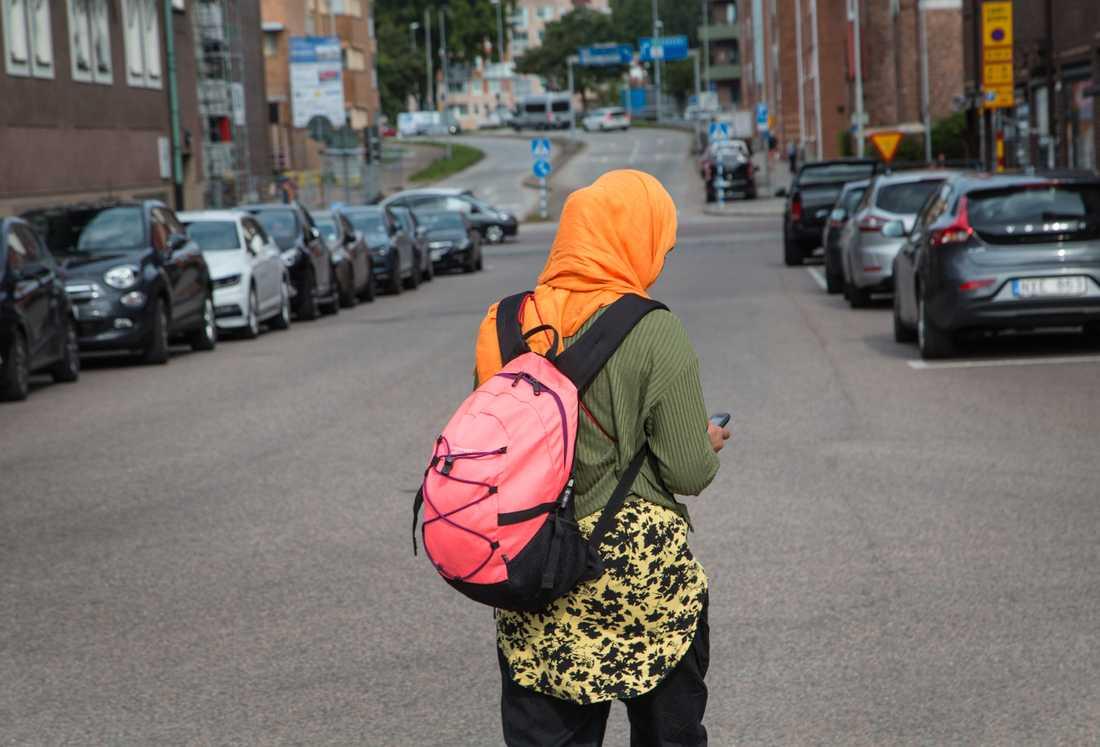Skolverkets bedömning är att ett slöjförbud för skolelever skulle strida mot religions- och yttrandefriheten, som regleras i Europakonventionen och regeringsformen, och dessutom mot den svenska diskrimineringslagstiftningen. Arkivbild.