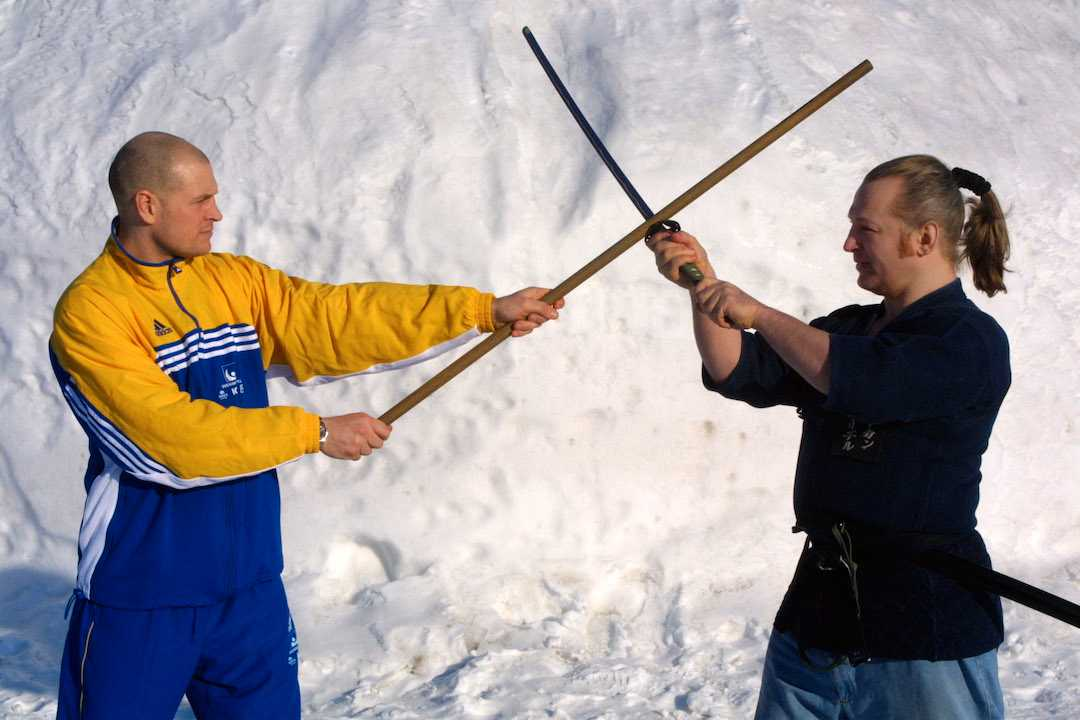 Fosshaug och de andra spelarna fick lära sig jodo inför VM 2001, med Håkan Friedel som läromästare.