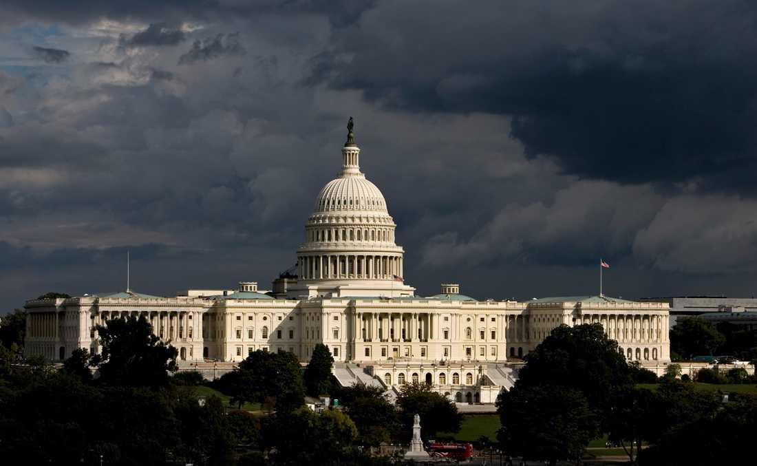 Kongressbyggnaden Capitolium i Washington DC i USA.