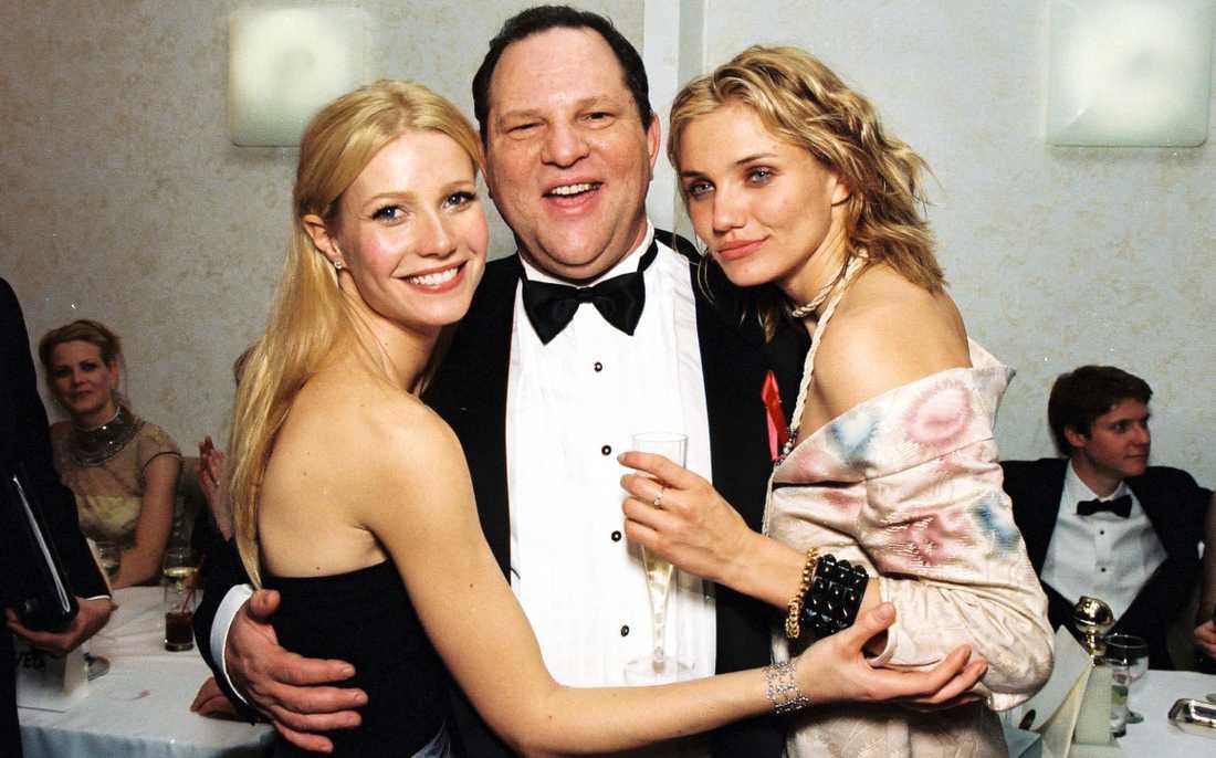 Harvey Weinstein tillsammans med Gwyneth Paltrow och Cameron Diaz.