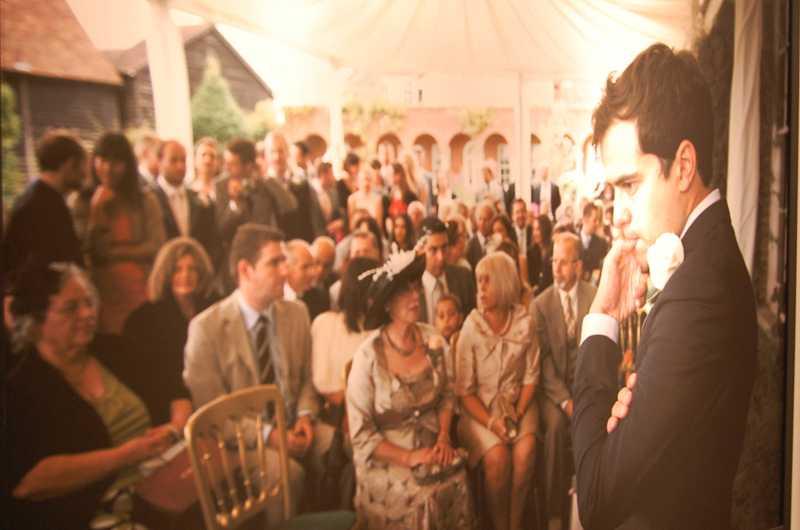 Här är en av de känsloladdade bröllopsbilder som Marianne och Mark Earhy visade upp på Fotomässan.