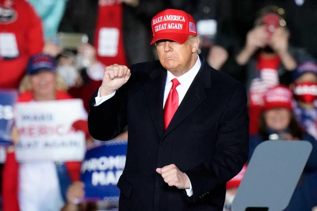 Donald Trump på kampanjmöte häromdagen.