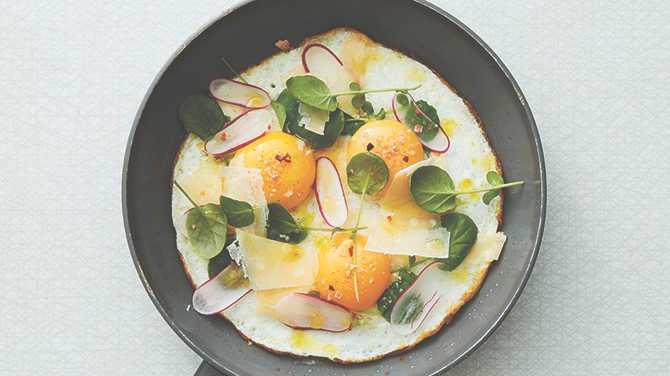 Vit omelett - vispa äggen rätt och den blir perfekt.