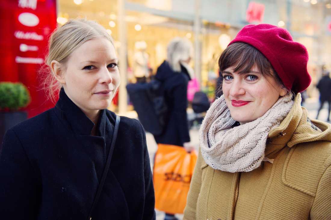 Karolina Johansson  och Kristin Johansson.
