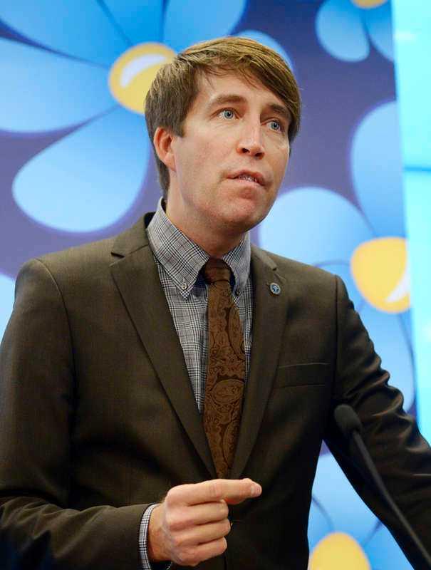 Richard Jomshof (SD), partisekreterare.