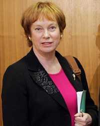Försvarsminister Leni Björklund.