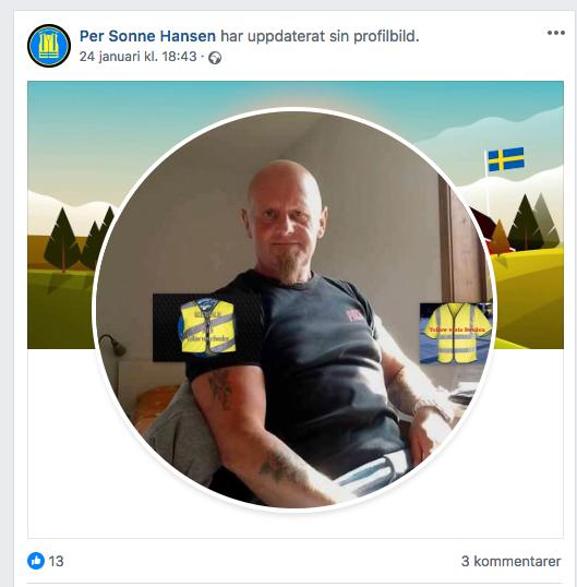 """53-årige Per Sonne Hansen tar nu avstånd från Soldiers of Odin. """"Jag lever som en vanlig Svensson"""", skriver han i ett mejl till Aftonbladet."""