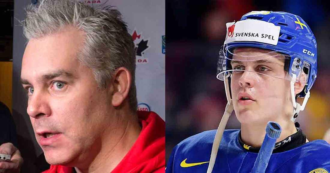 Kanadas förbundskapten Dominique Ducharme skickade iväg ett par giftpilar mot Sverige på gårdagens presskonferens.