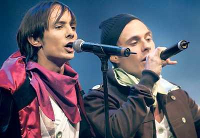 Daniel med Oskar Linnros när det begav sig i Snook.
