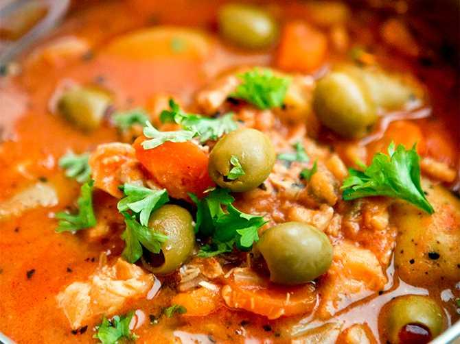 Fisksoppa, falsk bouillabaisse, är alltid gott i matlådan.