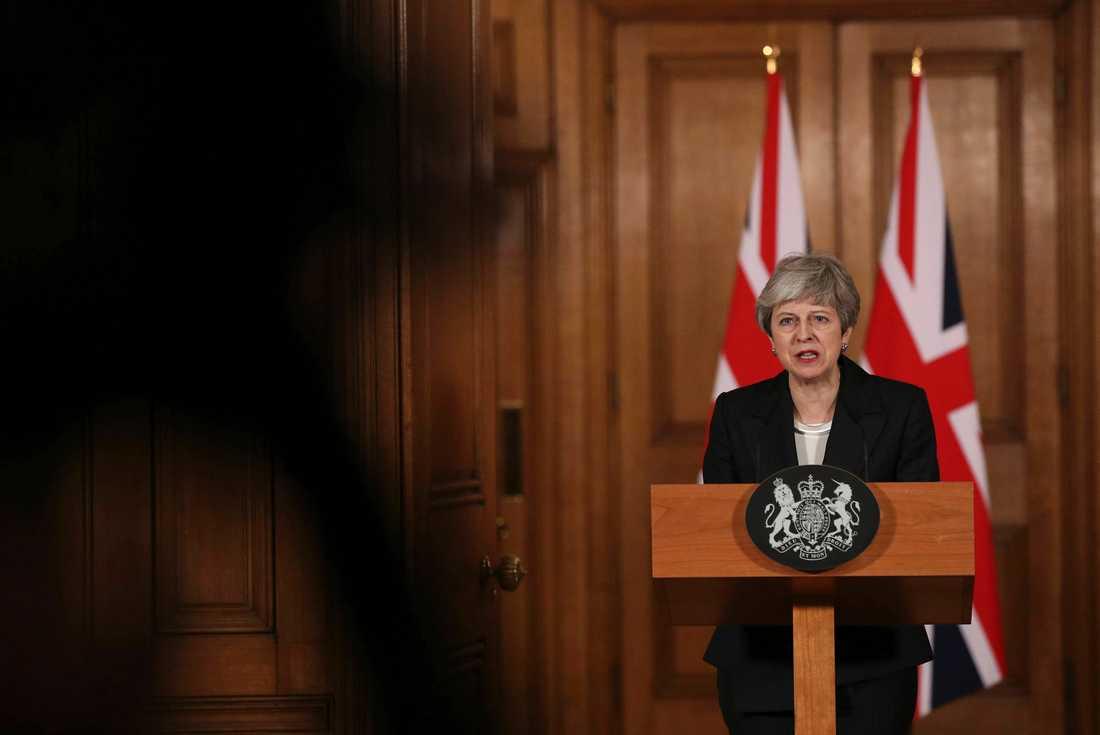 Storbritanniens premiärminister Theresa May. Arkivbild.