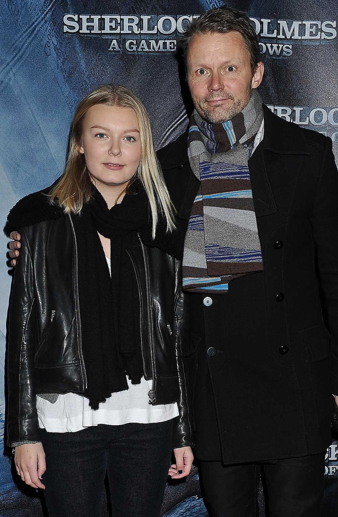Felix Herngren, 44, och dottern Vera.