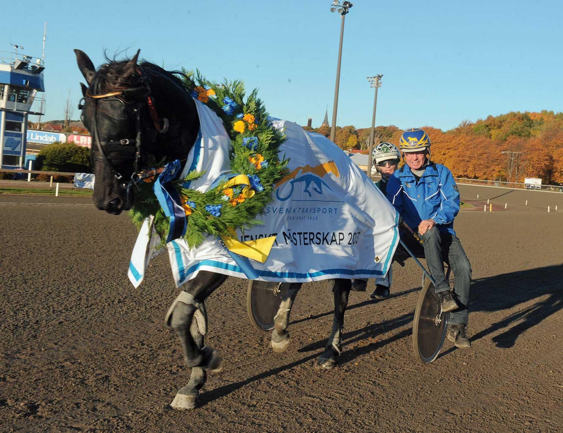 On Track Piraten vann Svenskt Mästerskap i fjol för Johnny Takter. På lördag jagar hästen och tränaren Hans R Strömberg en finalplats i Olympiatravet.