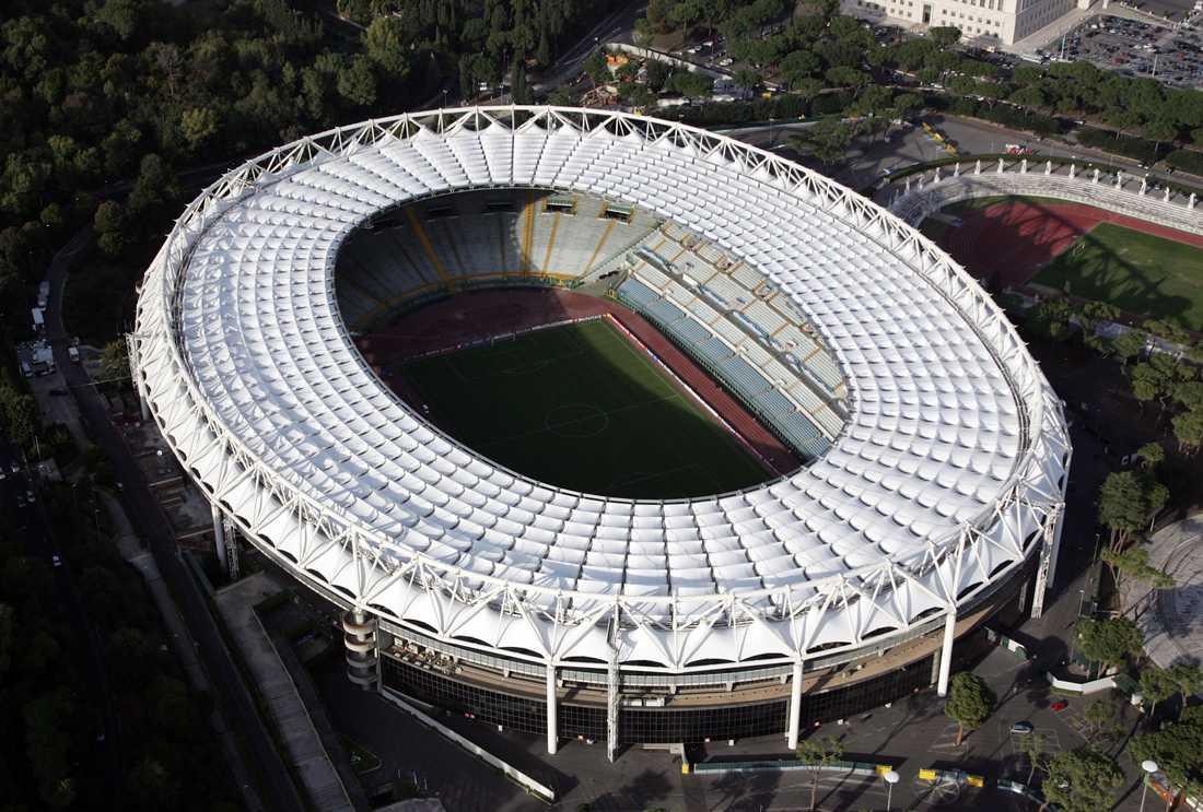 Olympiastadion, Rom. Kapacitet: 68 000. Byggår: 1953.