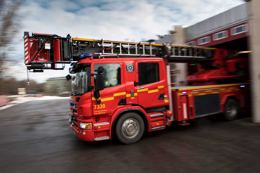 En brand bröt ut i en källare i ett flerbostadshus i Norrköping under fredagsmorgonen. Arkivbild.