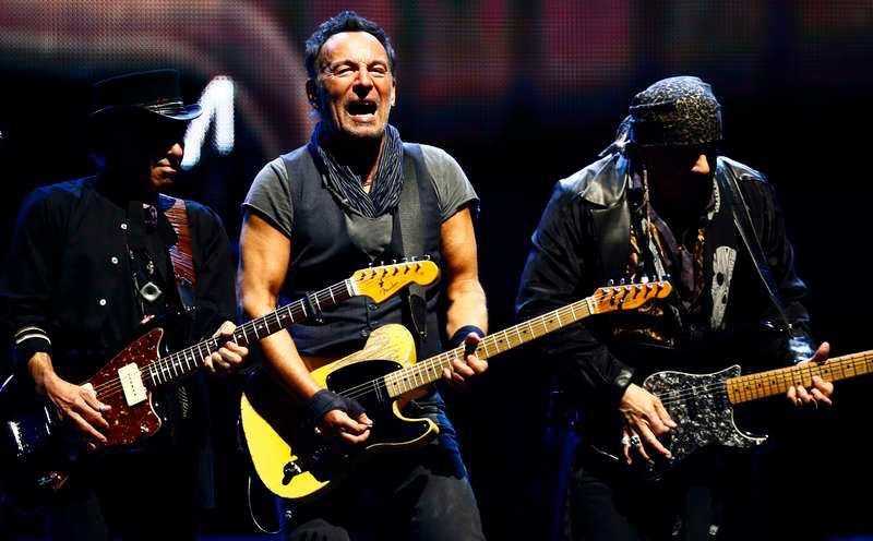 """Bruce Springsteen och """"E street Band""""."""