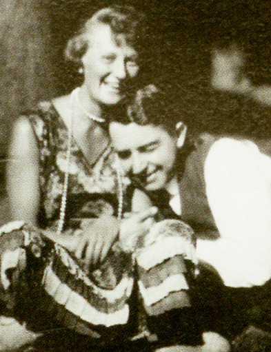 Älskaren Stellan Arvidson med Tette 1927, flickan han aldrig fick gifta sig med.