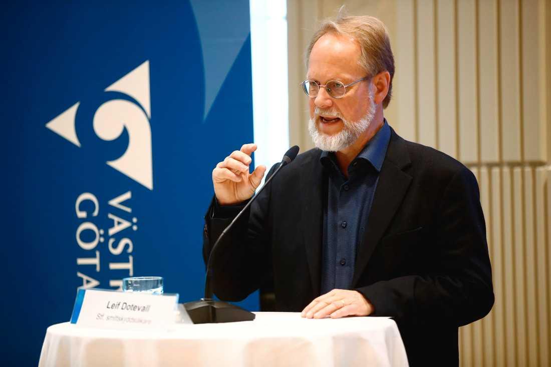 """""""Allting talar ändå för att det är en långsam minskning"""", säger Leif Dotevall, ställföreträdande smittskyddsläkare i Västra Götalandsregionen."""