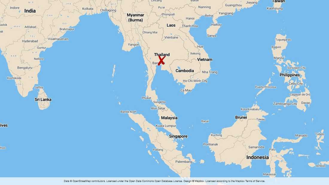 En misstänkt mördare greps efter att ha blivit igenkänd på ett tåg i den thailändska staden Pakchong.