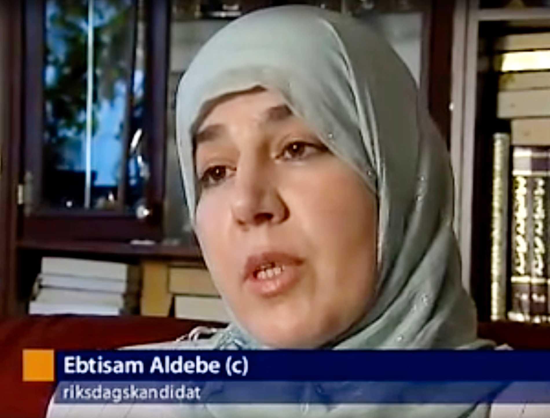 Ebtisam Aldebe (C) är en av nämndemännen som ville fria mannen i Solna tingsrätt.