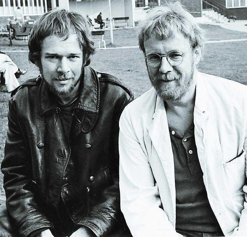 Journalisten Christer Dahl (t v) var andra halvan av succéförfattaren Kennet Ahl.