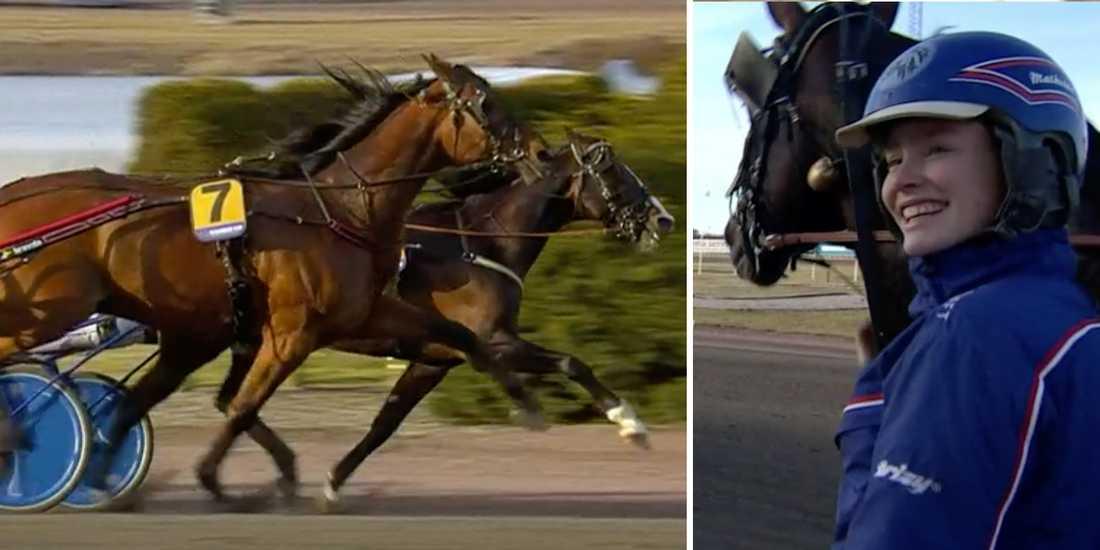 Cyber Lane utvändigt om Racing Mange. Skötare Mathilda Lövgren.