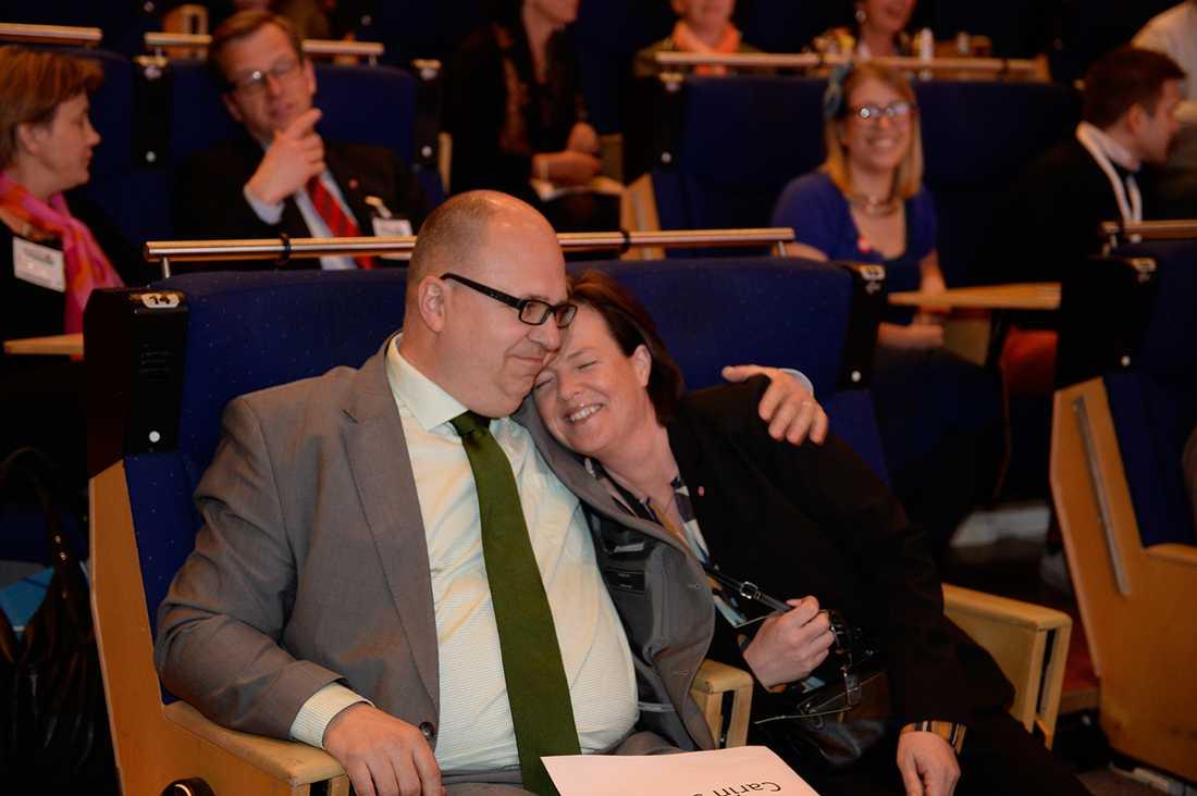LO:s ordförande Karl-Petter Thorwaldsson och partisekreteraren Carin Jämtin: Överens.