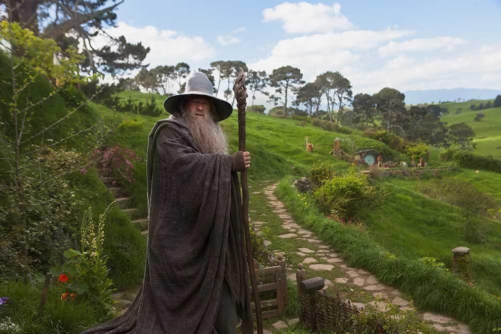 """Ian McKellen som Gandalf i Peter Jacksons filmatisering av """"Sagan om Ringen""""."""