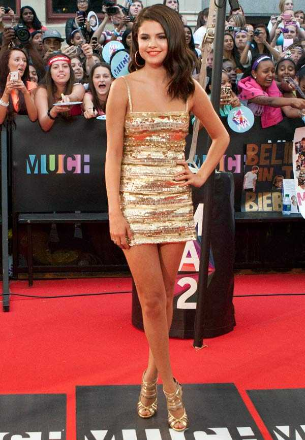 Selena Gomez på röda mattan.