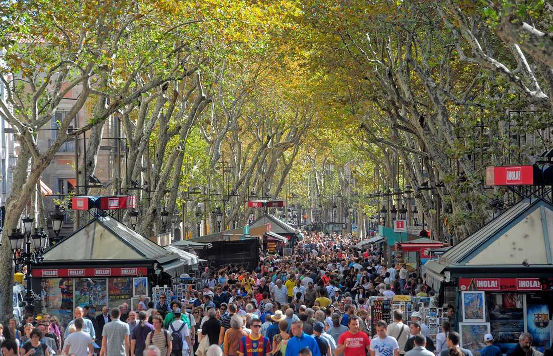 Misstänkt terrorist planerade dåd i Barcelona. Arkivbild.