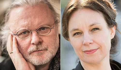 Dramatikerna Jon Fosse och Sara Stridsberg.