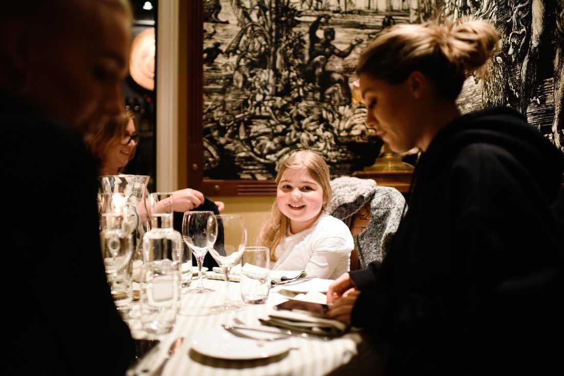 De var och åt lunch i Stockholm.