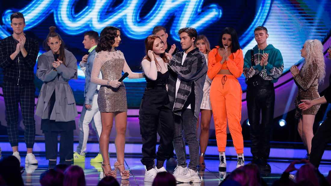 """Nathalie Brydolf fick lämna """"Idol"""", trots hjälp av Benjamin Ingrosso, överraskade många."""