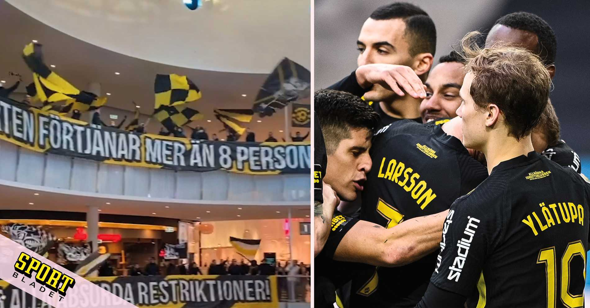 AIK vann – då protesterade fansen ett stenkast bort