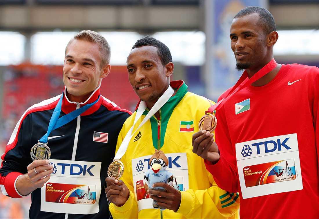 Vid VM 2013 blev Symmonds tvåa på 800 meter.