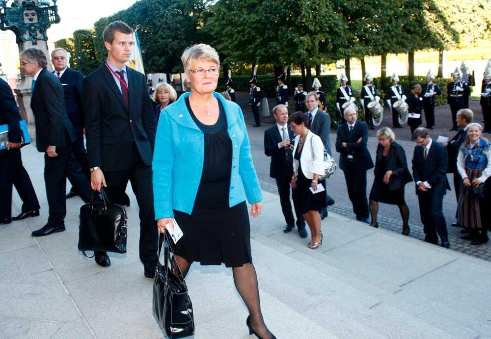 Maud Olofsson var naturligtvis på plats.