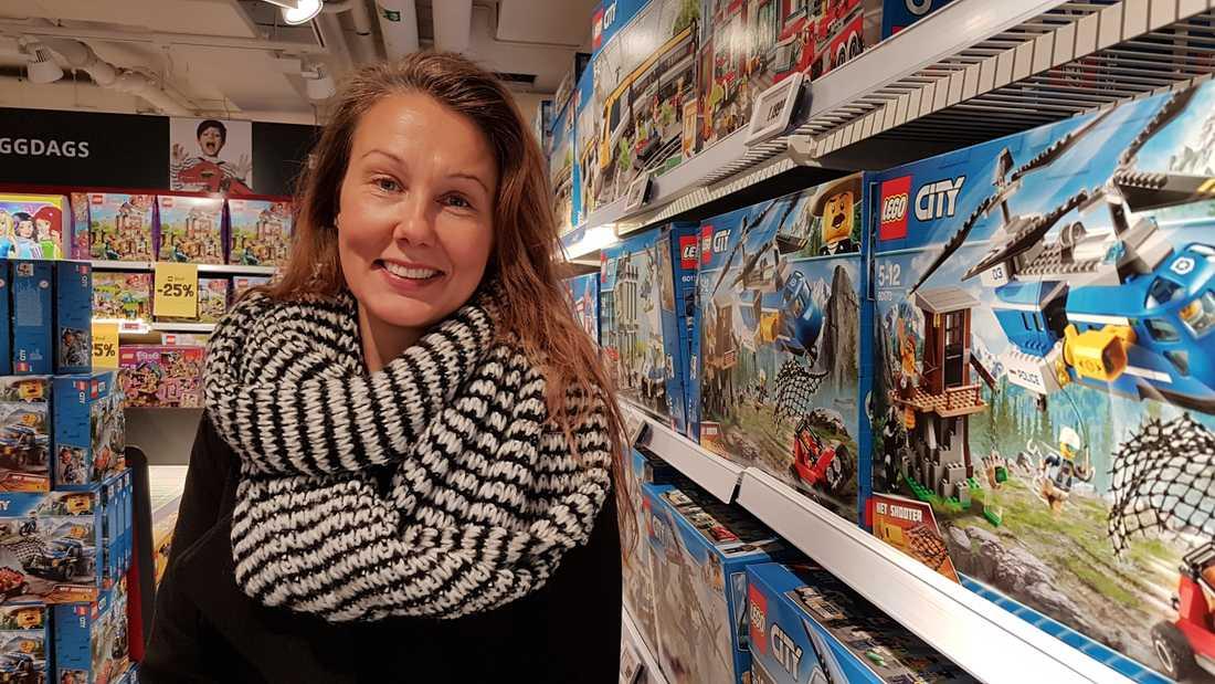 Lego är populärt på önskelistorna, enligt Sara Ström.
