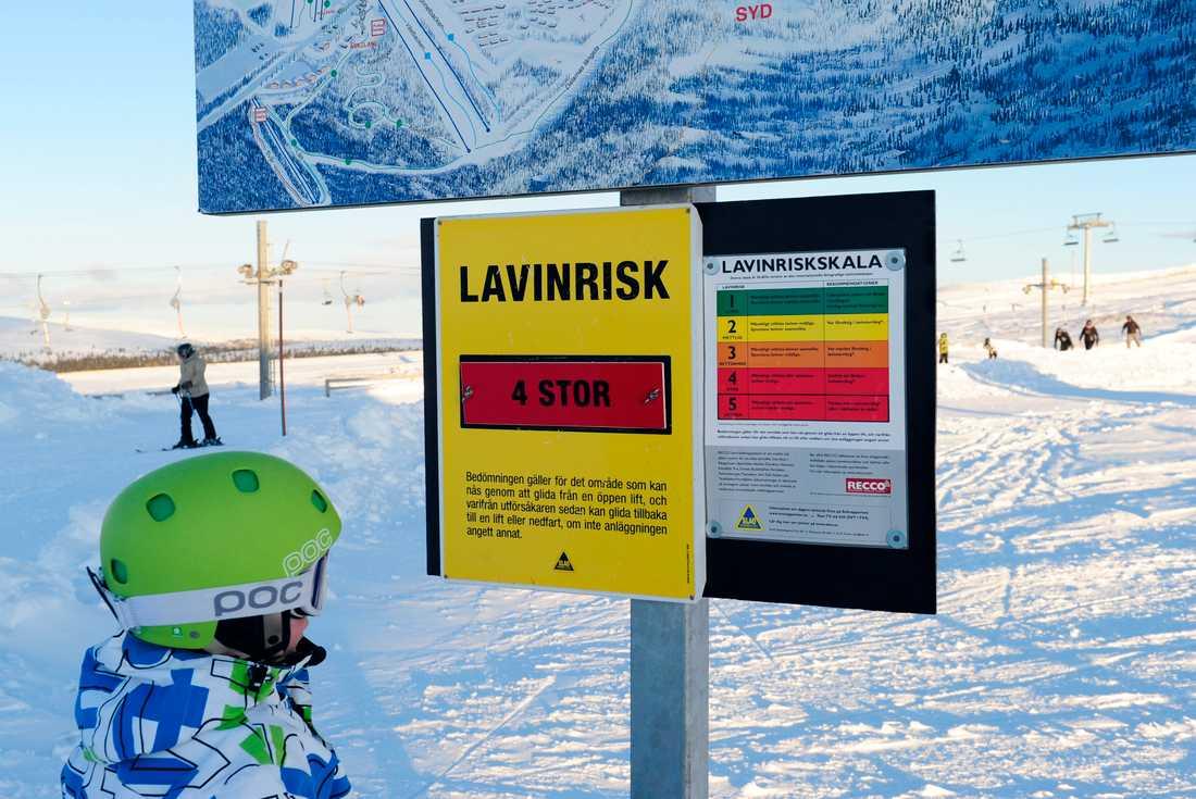 Fjällen bjuder på fina förhållanden undersportlovsveckorna. Däremot är lavinfaran betydande på de flesta skidorter. Arkivbild.