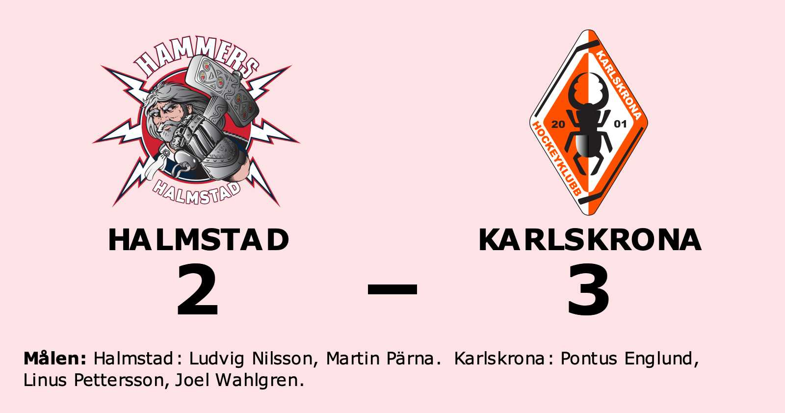 Halmstad fick ge sig i toppmötet med Karlskrona