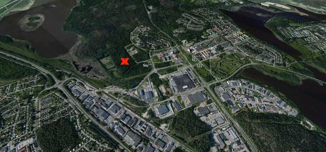 Här på Porsön i Luleå ska Facebooks serverhallar byggas.