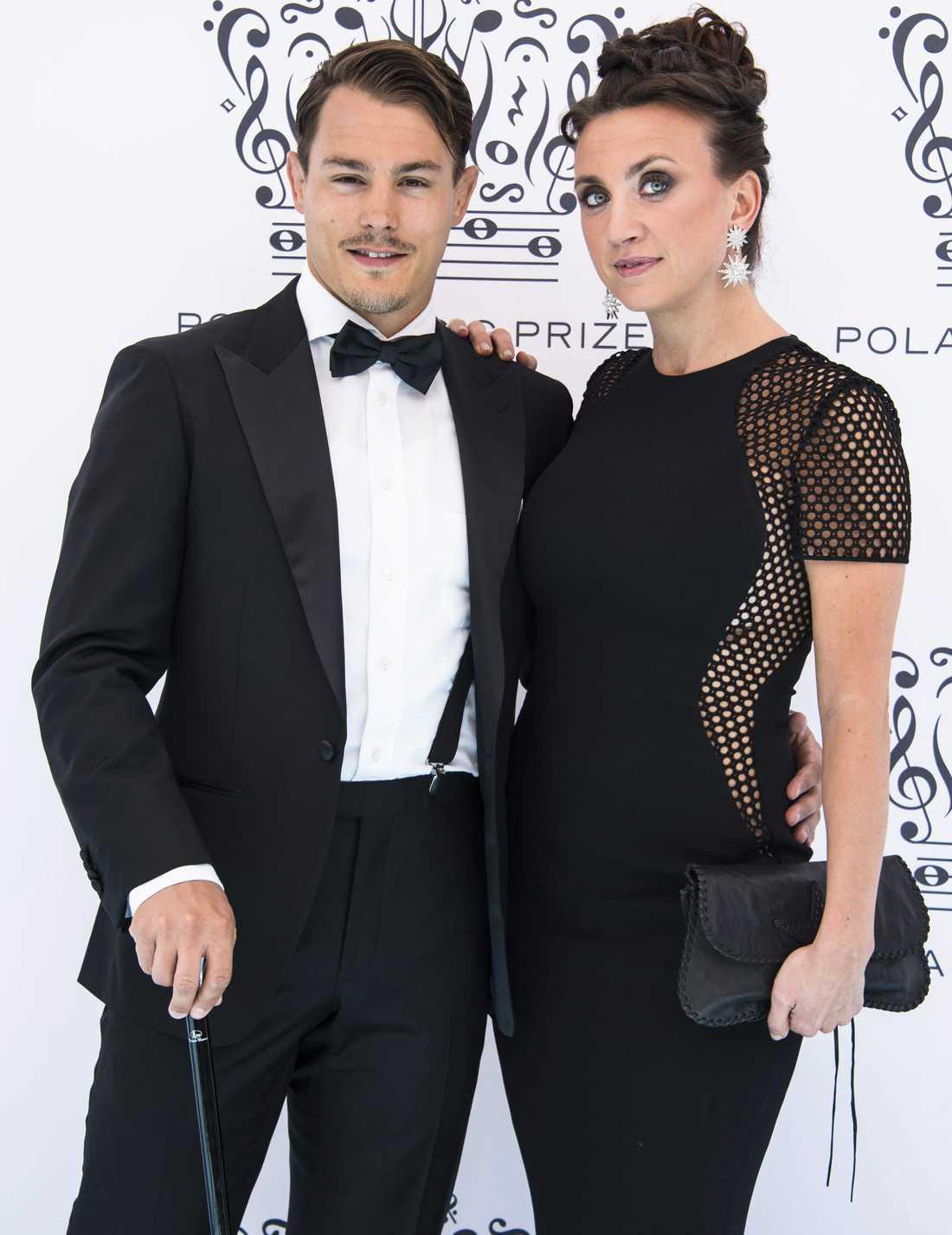 Camilla Läckberg och Simon Sköld närvarade på bröllopet