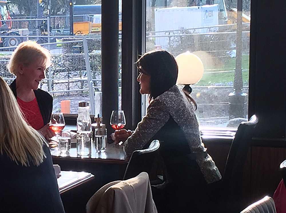 Margot Wallström och Nikki Haley på Grand hotel i Lund.