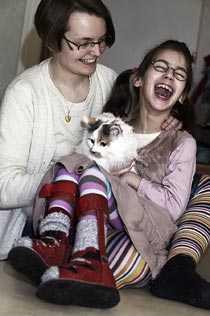 Andrea Atterström och dottern Louisa drabbades av Försäkringskassans nej.