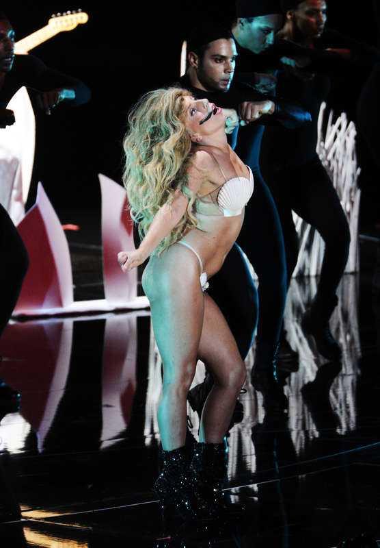 """Lady Gaga uppträdde med singeln """"Applause"""" på MTV- galan i New York i somras."""