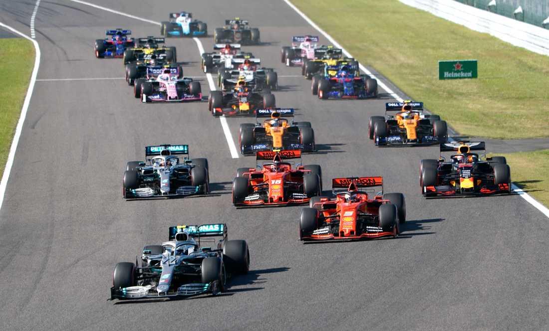 Bottas i ledning under Japans GP.