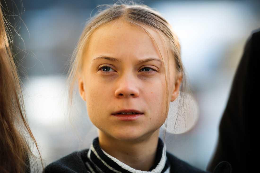 Klimataktivisten Greta Thunberg besöker marknaden i Jokkmokk i veckan.