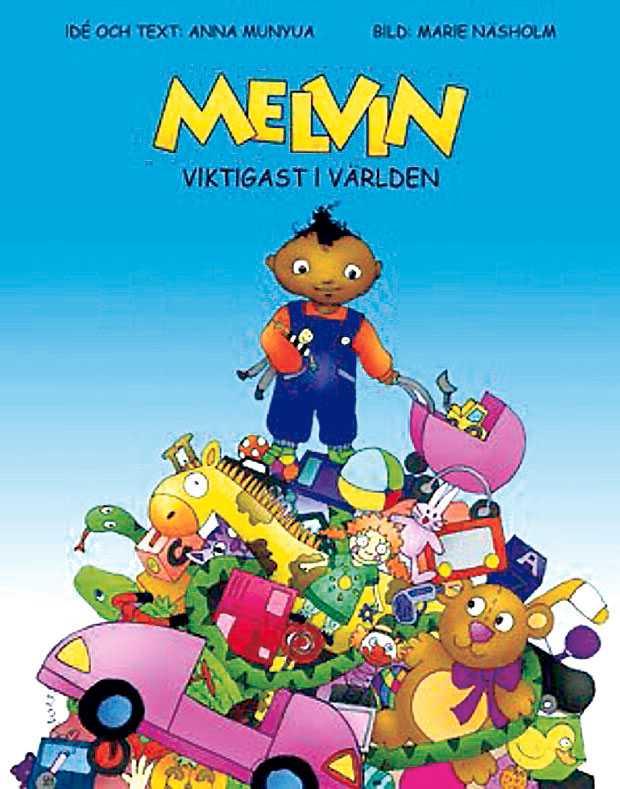 """Lät barnen välja Anna lät flera illustratörer ge Melvin ett utseende, sen fick barn bestämma vilken som passade bäst. En arbetsmetod som sågades av kollegorna. """"Men det är ju det som barnen vill ha"""", svarar hon."""